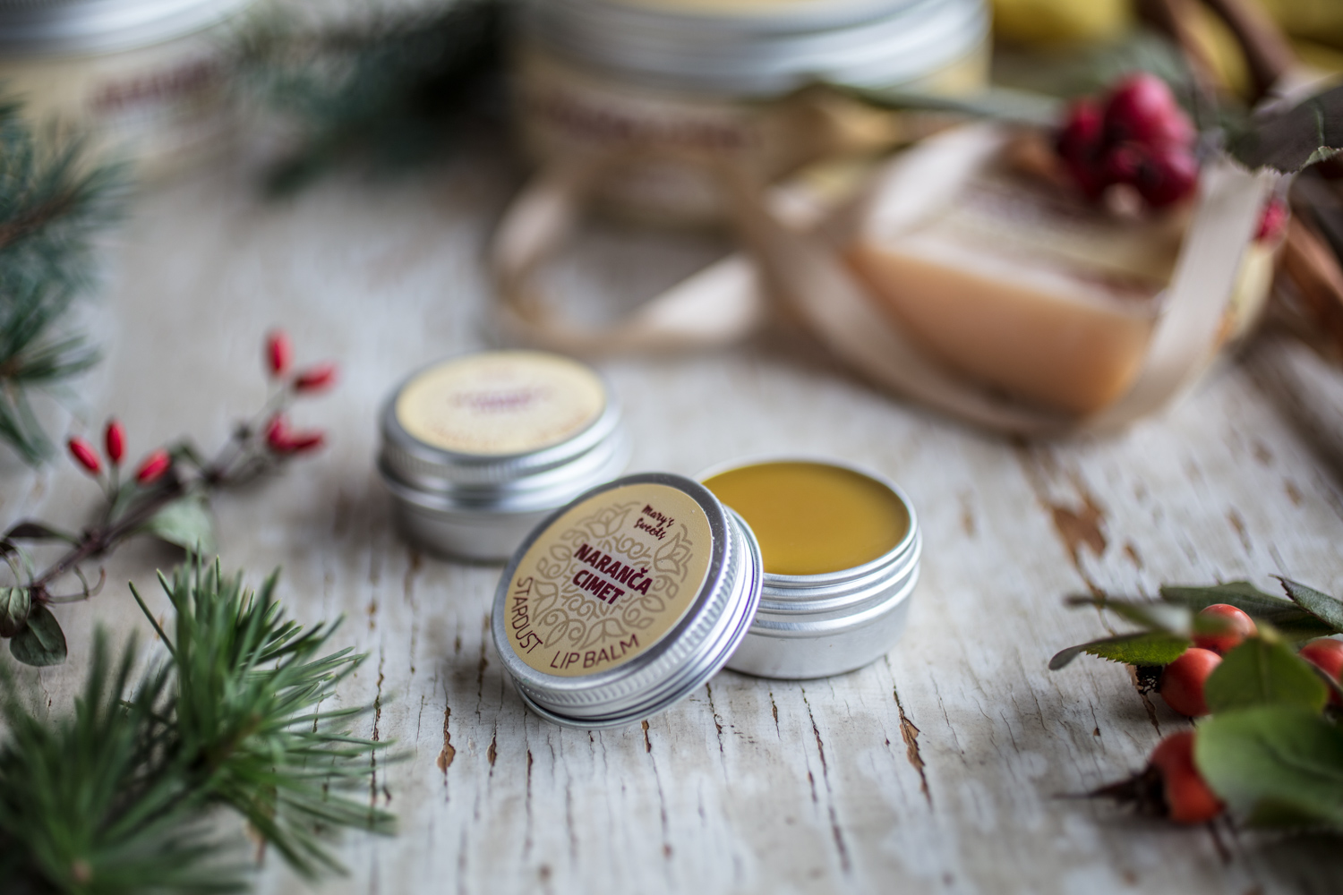 Orange & Cinnamon Stardust Lip Balm