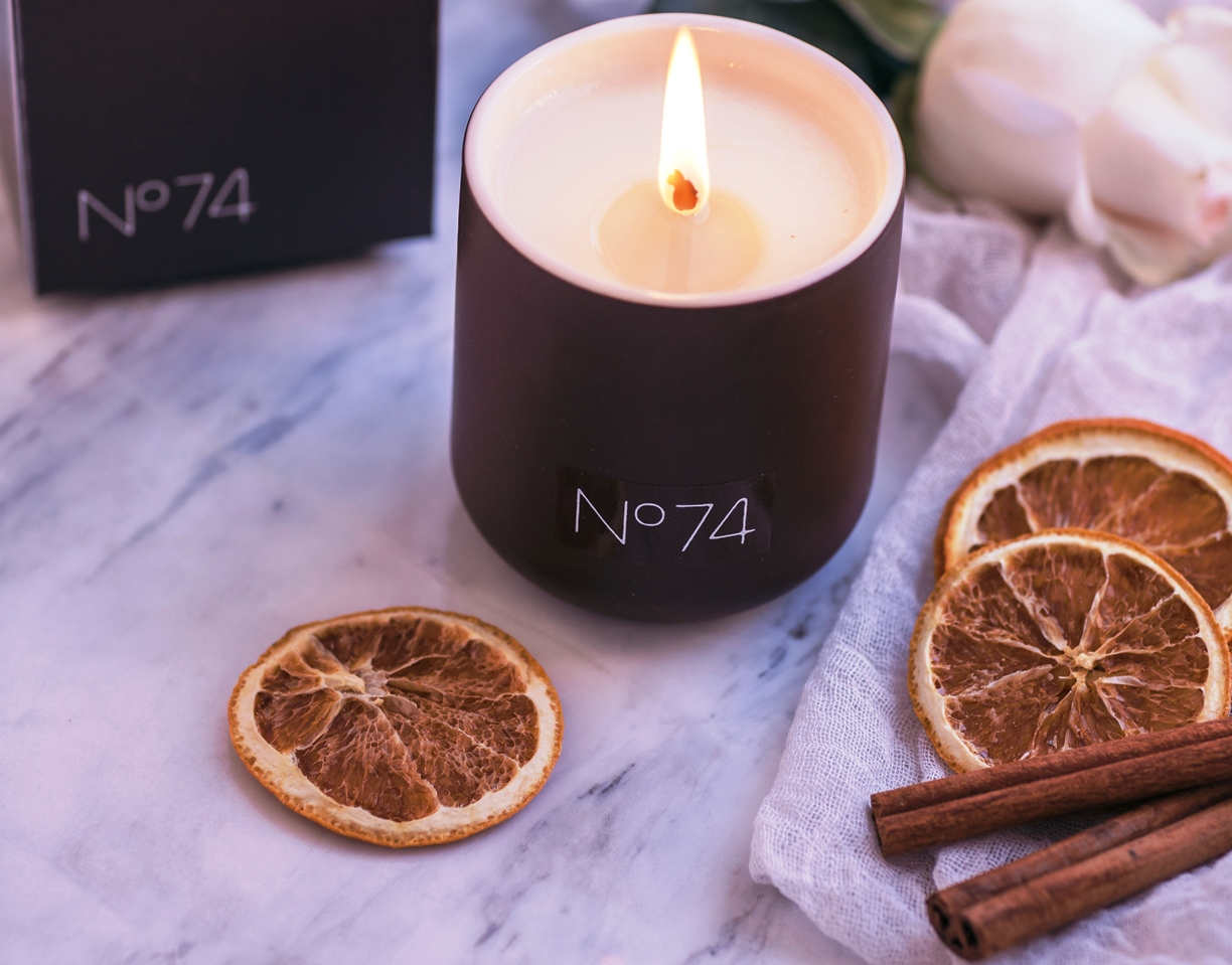 Warrior Path Candle No. 74, Oranges, Cinnamon and Camphor Essential Oils