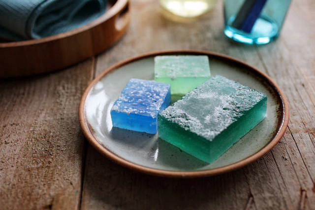 Glycerin soap with sea salt